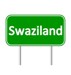 Swaziland road sign vector