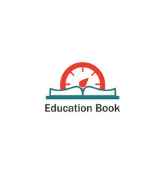 time book education logo vector image