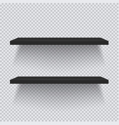 two black plastic shelves template for your vector image