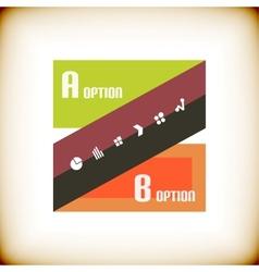 Vintage ribbon design template vector image