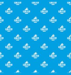 web globalization pattern seamless blue vector image