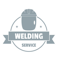 Welding mask logo simple gray style vector