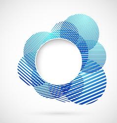 Blue sign design element notifier vector image vector image