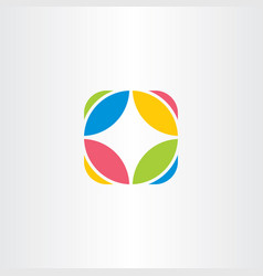 circle logo company icon abstract symbol vector image