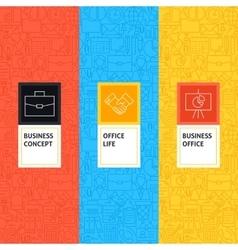 Line Business Office Patterns Set vector image vector image