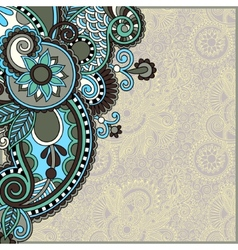 ornate card announcement vector image