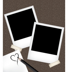 photo frames with notepad vector image