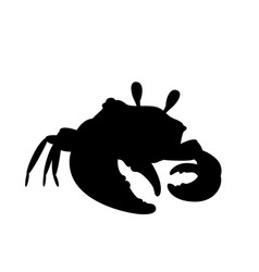 crab in cool pose silhouette vector image vector image