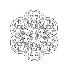 Zentangle stylized Arabic Indian Mandala Hand vector image