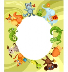 Animal card vector