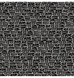 Seamless sushi background vector image
