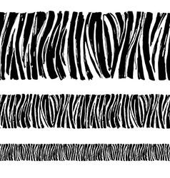 Zebra print seamless background border frame vector image vector image