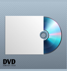 dvd cd disk with white empty envelope cover vector image