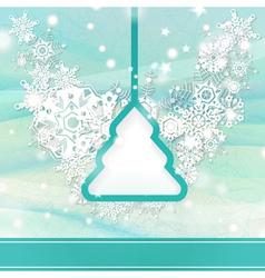 Elegant light blue Christmas background vector image