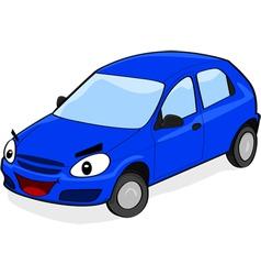 Happy car vector image