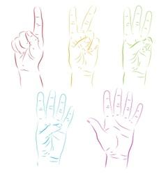 Human hands make numbers vector image vector image