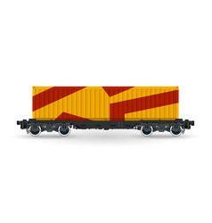 orange railway container isolated vector image