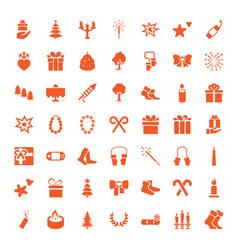 49 christmas icons vector image