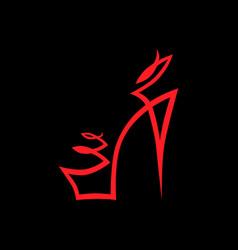 Abstract high heel shoe symbol icon vector