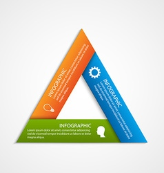 Abstract triangled options infographics template vector image