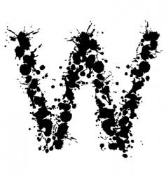 alphabet ink w vector image