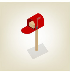 American mailbox isometric vector