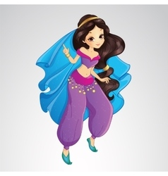 Arabian Princess In Purple Dress vector
