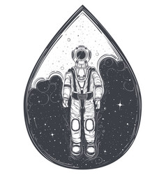 Astronaut cosmonaut in a space suit and helmet vector