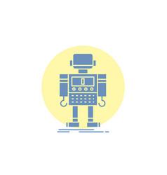 Autonomous machine robot robotic technology glyph vector