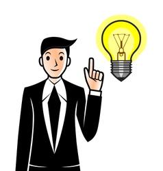 Businessman has an idea vector