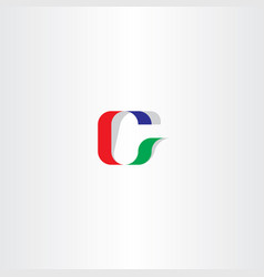 c logo letter icon logotype red green blue vector image