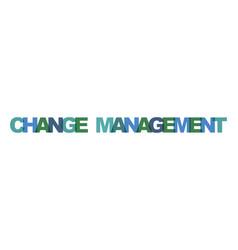 change management business card text modern vector image