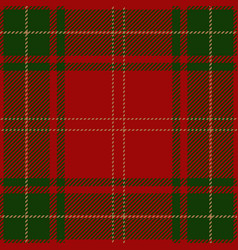 christmas tartan plaid scottish pattern vector image