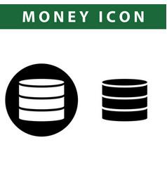 coin icon vector image