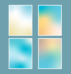 Collection abstract beach themed gradient vector