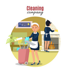 colorful cleaning service concept vector image