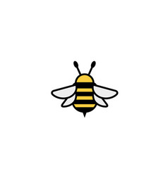 creative cute bumblebee insect logo vector image
