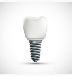 dental implant icon isolated on white background vector image