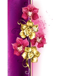 Design with Orchids vector