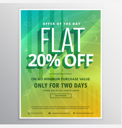 Discount and sale brochure flyer poster template vector