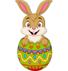 easter bunny hatched from an egg vector image