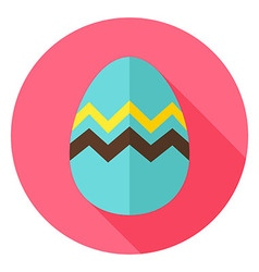 Easter Egg with Zigzag Circle Icon vector image