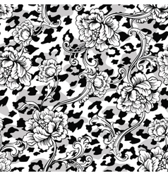 Eclectic fabric seamless pattern Animal vector