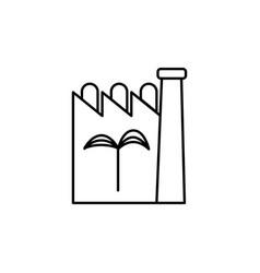 eco factory icon vector image