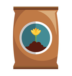 fertilizer bag isolated icon vector image