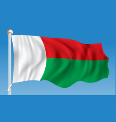 Flag of madagascar vector
