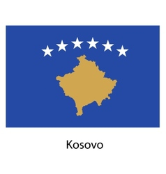 Flag of the country kosovo vector