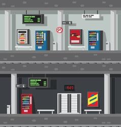 Flat design underground subway vector