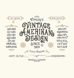 font vintage american design vector image