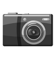 Front view camera icon gray monochrome style vector